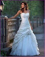 Lager Wei�Ÿ Brautkleid Abendkleid Ballkleid Hochzeitskleid 36/38/40/42/44/46/48