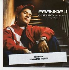 (EB706) Frankie J, Obsession (No Es Amor) - 2005 DJ CD
