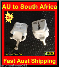 AU NZ Universal to South Africa SA Premium Travel Plug Adaptor Converter 2 Pcs