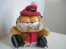"9"" 1978 1981 Vintage GARFIELD ICE SKATING Cat Plush Stuffed Animal"