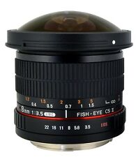 ROKINON 8mm F/3.5 HD Fisheye Lens With Removable Hood for Sony E Mount