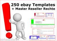Sonderposten ebay HTML Templates 250 Stück Auktions VORLAGEN EBAY HTML GEIL MRR