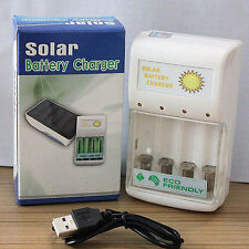 Portable Sun Green Power Dual Solar Charger For AA/AAA NI-MH And NI-CD Batteries