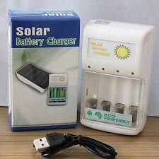 Portable Sun Green Power Dual Solar Charger For AA/AAA NI-MH And NI-CD Batteries