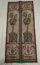 Rooster Chicken Topiary Country unfinished Tapestry fabric Bell Pull wall Panels