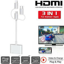 Type C Micro USB Android iOS HDMI Adapter Cable For iPhone 6 7 8 XS 11 Pro to TV