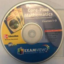 Core-Plus Mathematics Exam View Cd-Rom Course 1 2 & 3 Edition Core Plus