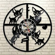 Chihuahua Cute Friend Dog_Exclusive wall clock made of vinyl record_GIFT_DECOR