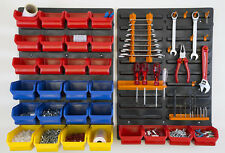 2 panneaux porte outils + 28 bacs de rangement visserie + 10 crochets (atelier)