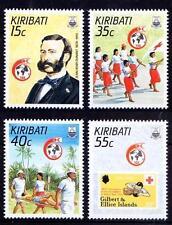 Kiribati 1988 MNH 4v, Dunant, Red Cross, Medicine, Stamp on Stamp, 1st Aid- Rs37