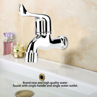ABS Tap Single Washing Machine Faucet Chrome Silver Kitchen Bathroom Sink Basin