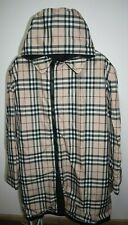 Burberry London Nova Check Cotton Trench Coat Jacket Hood Mens Size XL