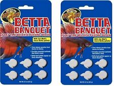 ZOO MED BETTA BANQUET VACATION BLOCK FOOD FEEDER 7 DAY FISH 2 PACK