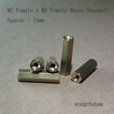 M2 Female x M2 Female Brass Standoff Spacer 15mm - 25 pcs