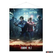 RESIDENT EVIL 2 LEON & CLAIRE WALLSCROLL 77x100 - Poster Originale Capcom Gaya