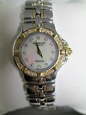 Raymond Weil Parsifal Ladies Watch Diamond Dial & Bezel 18KT Yellow Gold S/S