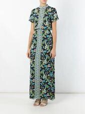 NWT $550 TORY BURCH Floral Botanical Print Silk Chiffon Split Side Maxi Dress 6