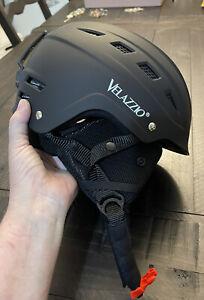 velazzio ski helmet black small bvs-08