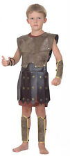 Boys Warrior Roman Greek Soldier Childrens Fancy Dress Costume Large CC670