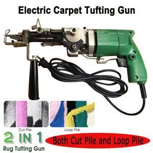 Elektro Cut & Loop Pile Teppichherstellung Weberei Tufting Gun Flocking Machine
