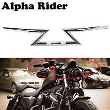 """Chrome 1"""" Z Bars Handlebars For Harley Custom Chopper Softail Dyna XL Sportster"""