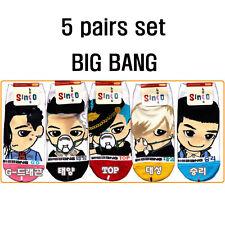 K-Pop BigBang Women's Socks (Pack of 5) Size 6-9 Korean singers Character item