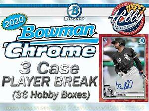 Tyler Stephenson REDS 2020 Bowman Chrome HOBBY 3 Case (36Box) Player Break
