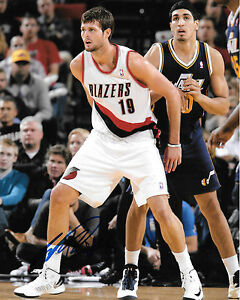 Joel Freeland *PORTLAND TRAILBLAZERS* Signed 8x10 Photo J4 COA GFA