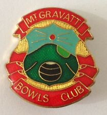 Mount Mt Gravatt Bowling Club Badge Pin Vintage Lawn Bowls (L16)