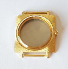 ETA 2452/2472  Gilt Watch Case & Stainless Steel Back Glass,Crowns  Swiss Made