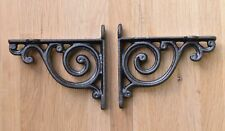 More details for a pair of small victorian style scroll brackets cast iron shelf bracket v1