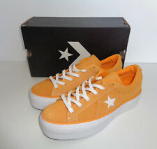 CONVERSE Ladies One Star Platform Orange Suede New Shoes Trainers RRP £75 Size 3