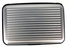 Waterproof Business ID Credit Card Wallet Holde Aluminum Metal Pocket Case Silve