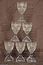 Set antique cut crystal KOSTA glasses Swedish Gustavian Empire stemware Georgian