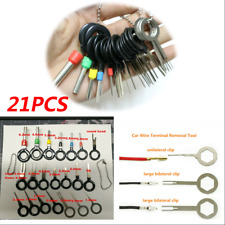 21Pcs Car Terminal Removal Electrical Wiring Crimp Connector Pin Extractor Kits