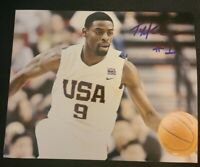 TYREKE EVANS SIGNED 8X10 PHOTO USA TEAM NBA PACERS KINGS W/COA+PROOF RARE WOW
