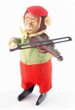 SINGE VIOLONISTE   SCHUCO  /  jouet ancien antique toy