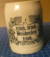 Bierkrug Trink Trink Brüderlein trink Steinzeug Krug Sammlerstück P-389
