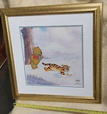 More details for winnie the pooh disney pooh winter blanket ltd sericel print framed