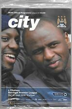 Football Programme>MANCHESTER CITY v CHELSEA Sept 2010 (IN ORIGINAL SEALED BAG)
