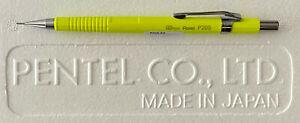 Neon/Fluorescent Yellow Pentel P205-FG Sharp 0.5mm Mechanical Pencil - New!