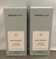 THANK YOU FARMER Sun Project Water Sun Cream SPF50 NEW 2 Pack 1.7oz Exp 2023