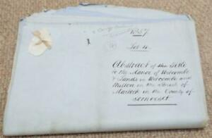 1857 Attested Copy of  Abstract of Title for The Manor of Witcombe Somerset