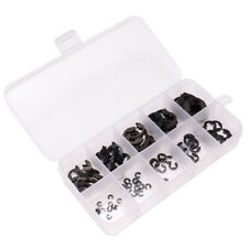 Us 120pcs Black E-Clip & Retaining Ring Assortment Kit 1.5mm to 10mm Circlip