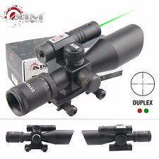 AIM SPORTS Tactical 2.5-10X40MM Dual III SCOPE WITH GREEN LASER DUPLEX RETICLE