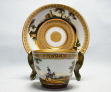 Meissen porcelain  cup & saucer  with round panorama  end of the 18th century
