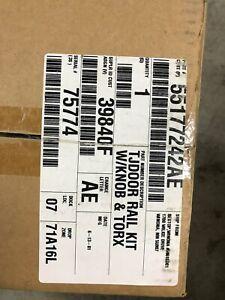 Jeep Wrangler soft top TJ door rail kit 55177242AE 39840F 75774