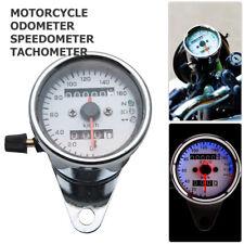 Universal Motorcycle Odometer Speedometer Tachometer Speedo Meter LED Backlight