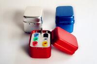 1Pc Dental Squard Endo Organizer Container 6 Gutta Percha- Aluminum