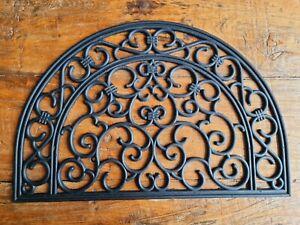 Türmatte Halbrund Barock 60 x 40 cm Fußmatte Schmutzmatte Fußabtreter Dekomatte